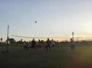 A spot of volleyball