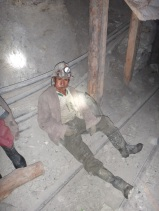 Miner chewing Coca leaves