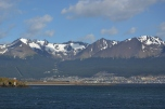 The mountains over Ushuaia
