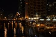 Reflections at night