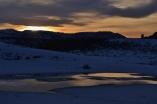 Sun setting over Yellowstone NP