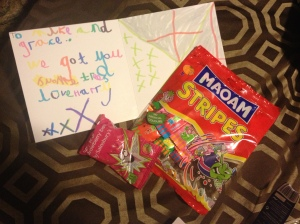 Sweeties from our nephew Harry