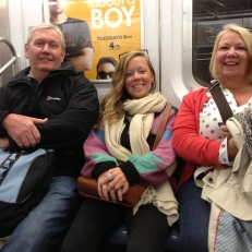 Subway ride with the fam
