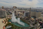 View from the Cosmopolitan Hotel Vegas Bellagio Fountains